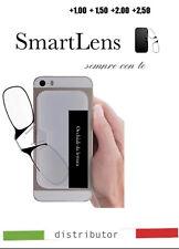 Occhiali lettura sottilissimi senza astine montatura da attaccare al cellulare