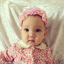 Big Vintage Flower Headbands Baby Girl Newborn Toddler Christening Wedding + Lot