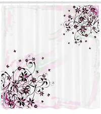 Modern Arrangement Shower Curtain Geometry Decor Set with Hooks 4 Sizes
