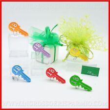 Calamite chiavi colorate numero 18 compleanno bomboniere 18 anni ragazzi offerte