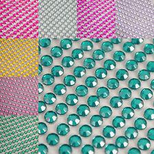 500 x 4mm Self Adhesive Crystal Gems flat back Sticky Rhinestone Gem Sticker