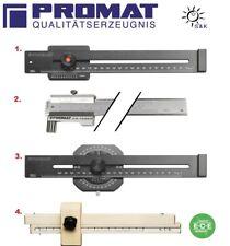 PROMAT Streichmaß 200 , 250 od. 300mm mit flachem Schieber oberflächengehärtetet