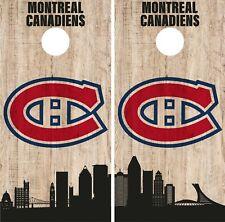 Montreal Canadiens Cornhole Wrap NHL Game City Skyline Skin Vinyl Decal CO900