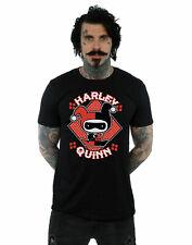 DC Comics hombre Chibi Harley Quinn Badge Camiseta
