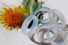 RING Steinring ACHAT hellblau glanz facettiert  div.Größen - auch Zwischengrößen