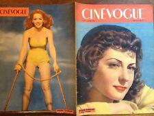 CINEVOGUE 1947 N 38 VIVIANE ROMANCE-ARLEEN VHEELAN - IDA LUPINO -Louise CARLETTI