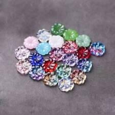 10pcs 15.5mm Charms Lampwork Plum Flower Glass Loose Beads DIY Jewelry Making