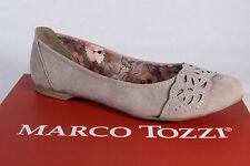 Marco Tozzi Ballerina Scarpe basse morbide Décolleté beige 42405 NUOVO