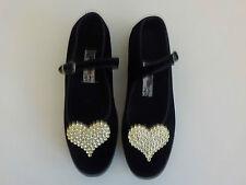 Black Mary Jane shoes Goth Gold Heart cosplay Kawaii Harajuku  festival