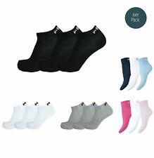 Fila 6 Pair Socks Quarter Sneakers Trainers Unisex 35-46 - Multiple Colors