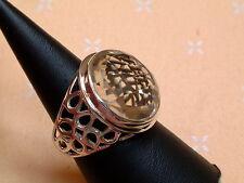 Designer Facetten Ring - Lemon Quarz - Sterling Silber - 925 - Gr. 57 - 61  EDEL