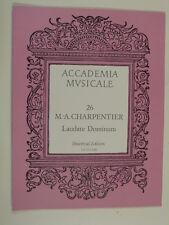 VOCAL SCORE Charpentier Laudate DOMINUM, UE 25 C 026
