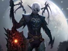 Lineage 2 Dark Elf LA2 MMO Video Game Art HUGE GIANT PRINT POSTER
