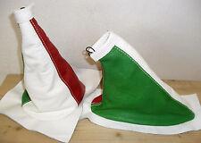 FIAT 500 anni '60 '70 cuffie cambio e freno in vera pelle tricolore