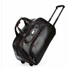 c32f4ddeb314 Men Travel Bags Wheeled Pu Leather Boarding Rolling With Wheels Duffel  Trolley
