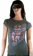 RARE Amplified Official ROLLING STONES Estrás GB lengua rock star VIP Camiseta