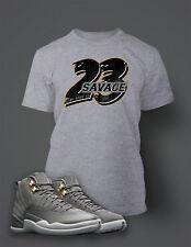 23 Savage T Shirt To match Jordan 12 Cool Gray Shoe Men's Tee Shirt Graphic
