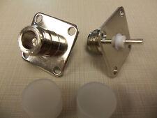 (2) Bird 43 Wattmeter Qc Connectors 4240-062 N Female (Pair)