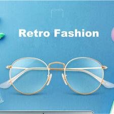 Vintage Oval 49mm Eyeglass Frames Metal Full Rim Myopia Rx able Retro Glasses