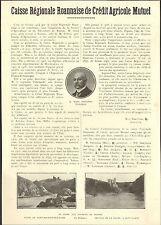 42 ROANNE CAISSE REGIONALE ROANNAISE DE CREDIT AGRICOLE ARTICLE DE PRESSE 1927
