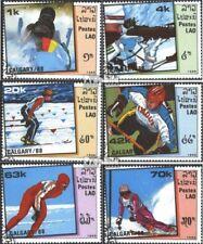 Laos 1060-1065 (kompl.Ausg.) gestempelt 1988 Olymp. Winterspiele, Calgary `88 EU