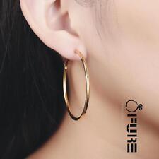 Calidad para mujeres 18K oro/Bañado en Plata de ley 925 Aros Aro Pendientes Oreja Set
