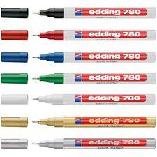 Edding 780 Paint Marker Pen Glass Metal Plastic Bullet Tip 0.8mm - Waterproof