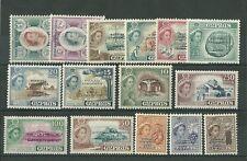 1960 CIPRO CYPRUS SERIE 15 VAL. MNH** UNIFICATO 171/85 REGINA ELISABETTA