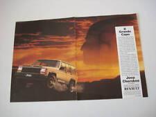 advertising Pubblicità 1986 JEEP CHEROKEE CHIEF