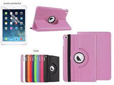 Screen Protector/360°Rotate PU Leather Case Cover for iPad Mini 4