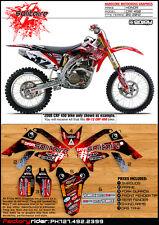 2009-2012 HONDA CRF 450 Solitaire Motocross Graphics Dirt Bike Graphics  Deco