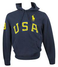 NEW Polo Ralph Lauren USA Big Pony Hoodie Sweatshirt! *7 Colors*  *Huge USA*