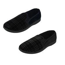 Qualité Hommes Pantoufles à Enfiler Deux Côté Soufflets Intérieur Chaussures