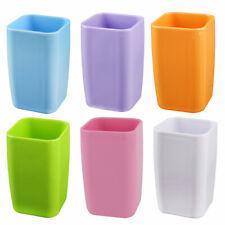 Salle bains cubique en plastique brosse à dents tasse 290ml Dentifrice bleu