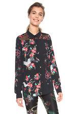 Desigual Black Magnolia Floral Bird Blouse Shirt XS-XXL UK 8-18 RRP£74 Pretty
