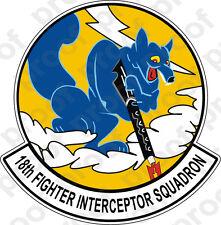 STICKER USAF 18TH FIGHTER INTERCEPTOR SQUADRON