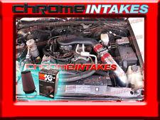 96 97 98 99 00 01 02-05 S10/HOMBRE/BRAVADA 4.3L V6 COLD AIR INTAKE HS RED+K&N