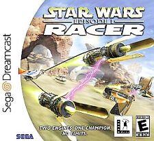 Star Wars Episode 1 Racer Sega Dreamcast Video Games-Good Condition