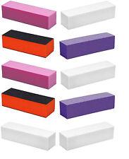 10 x Buffing Blocks Sanding Buffers Nail Art File Manicure Buffer Grit on 3 Side