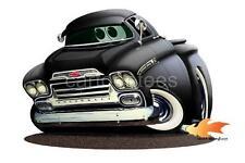 1959 Apache Pickup Truck Cartoon Replica Tshirt 6714 vintage automotive car art