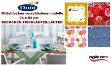 Duni Mitteldecken aus Dunicel 84 x 84 cm Sunflower Splash ,Romance Neu