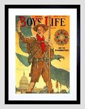 Comics chicos vida Boy Scout Águila Jamboree enmarcado impresión de arte de la Casa Blanca B12X3287