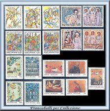 Vaticano Anno 1990 Annata completa Posta Ordinaria