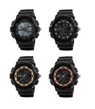 SKMEI Dual Time Digital & Analog Chrono Water Resistant 5ATM Date Alarm Watch
