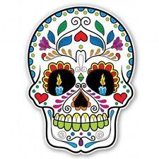 Sugar Skull Dia de los Muetros Car Vinyl Sticker - SELECT SIZE