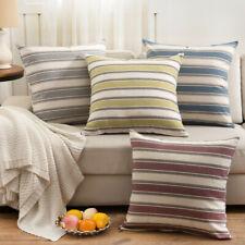 Fashion Stripe Cusion Cover Sofa Pillow Case Premium Quality Linen Home Decor