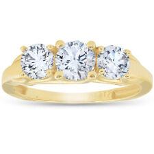 1ct Three Stone Diamond Ring 14K Yellow Gold