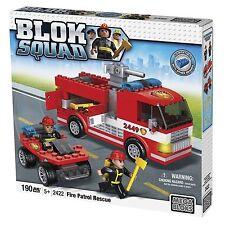 Blok Squad Mega Bloks Fire Truck Patrol Rescue Playset - 190 Piece
