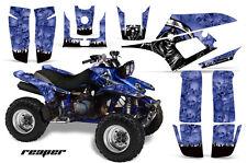 AMR RACING ATV QUAD GRAPHIC KIT YAMAHA WARRIOR DECO 350 PART STICKER REAPER BLUE