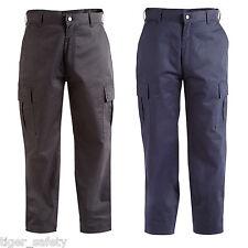 Proforce Utility Combat Cargo Trousers Work Uniform Pants - Black or Navy Blue